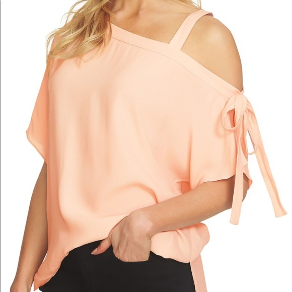 7257643996d58 1. State Tops - 1-State one shoulder tie sleeve blouse